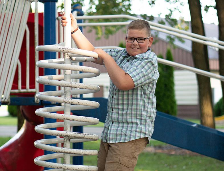 Austin on playground