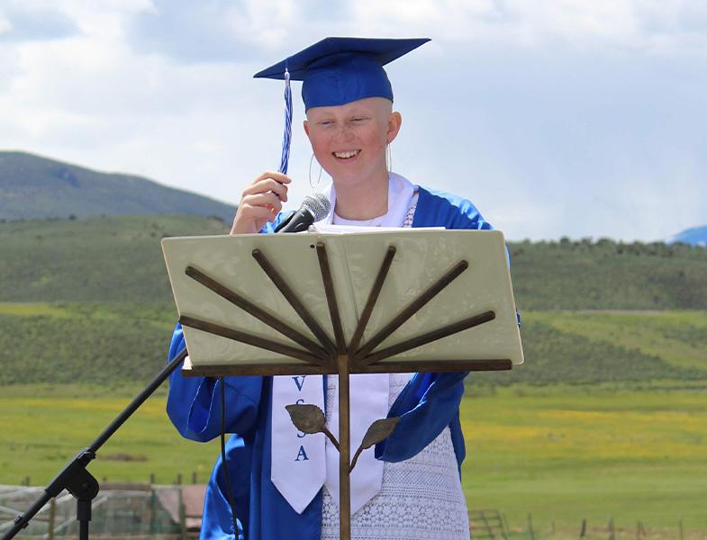 Campbell graduating