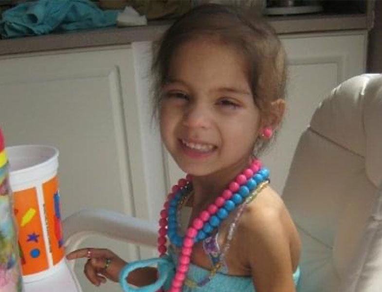 little girl in treatment