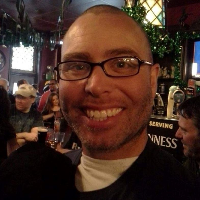 Keith after a St. Baldrick's shave