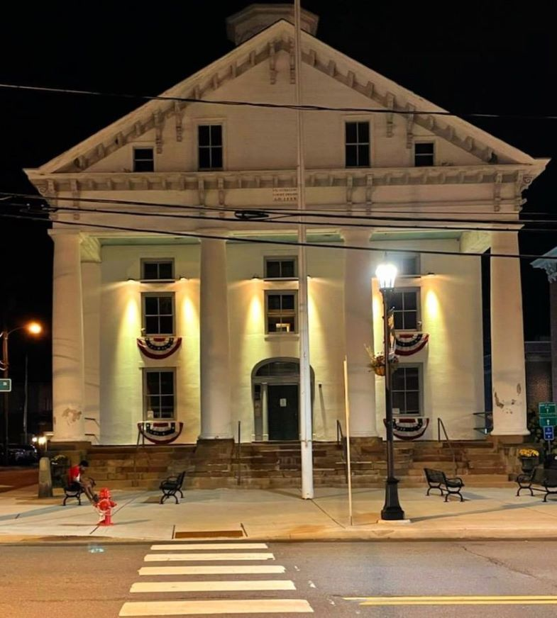 Hunterdon County Court House Glows Gold for Childhood Cancer Awareness Month.