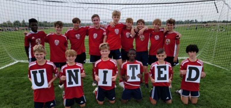 Soccer team stands untied to help raise awareness and funds for childhood cancer research